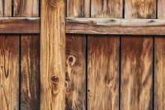 Antique Rustic Pine Wood Barn Door - Detail. Photograph of old, weathered rustic Pine wooden barn door - detail Royalty Free Stock Photos