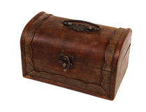 Antique rustic wooden box Royalty Free Stock Photos