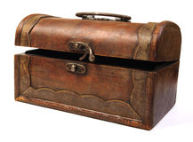 Antique rustic wooden box Stock Photography