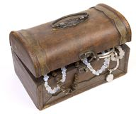 Antique rustic wooden box Stock Photo