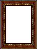 Antique rustic wooden picture frame isolated Royalty Free Stock Photography