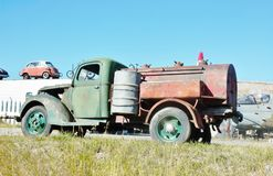 Antique  rusty chevrolet gazoline truck Stock Images