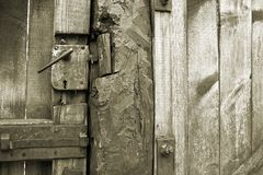 Antique rusty door wooden Stock Photo