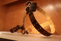 Antique and rusty male chastity belt. Antique and rusty male chastity belt Royalty Free Stock Photos