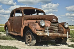 Antique Rusty Old Car Stock Images