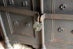 Antique rusty padlock. Vintage safe. Vintage safe. Antique rusty padlock stock photos