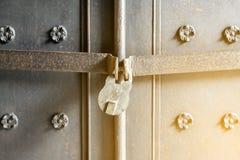Antique rusty padlock. Vintage safe. Vintage safe. Antique rusty padlock stock image
