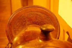 Antique saddle blur Stock Photo