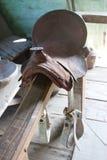 Antique saddle Royalty Free Stock Photos
