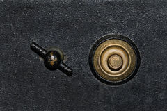 Antique Safe Background. Black and gold antique vintage safe background Stock Photography
