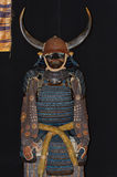 Antique samurai armour with Minamoto family emblem Royalty Free Stock Image