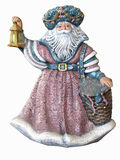 Antique Santa Claus. An antique small statue of Santa Claus by Sue Ward, isolated on a white background Royalty Free Stock Photos