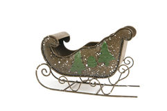 Antique Santa Sleigh Royalty Free Stock Photography