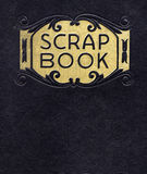 Antique Scrapbook, Circa 1890. With black cover and gold leaf printing Stock Photo