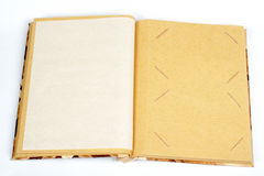 Antique scrapbook for two images per page stock photo
