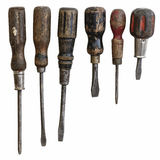 Antique Screwdrivers Stock Photo