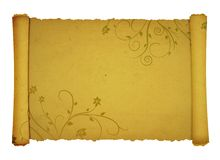 Antique scroll background Stock Photography