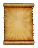 Antique scroll paper Stock Image