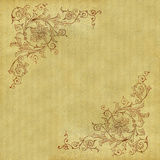 Antique scroll pattern. Antique pattern with wear and grunge intact. Great for framing Stock Image