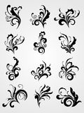 Antique scroll pattern black tattoos Stock Image