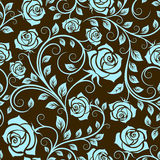 Antique scrolling rose seamless Stock Photos