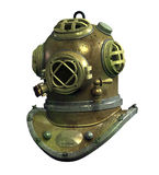 Antique Scuba Helmet - with clipping path stock illustration