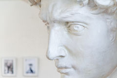 Antique sculpture bust of a man close up Stock Photography