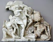 Antique sculpture group in Ephesus Stock Photos