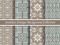 Antique seamless background collection brown and blue_67 Royalty Free Stock Photos