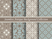 Antique seamless background collection brown and blue_65 Stock Images