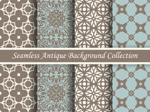 Antique seamless background collection brown and blue_68 Royalty Free Stock Photos