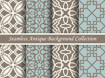 Antique seamless background collection brown and blue_55 Royalty Free Stock Photo