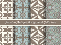 Antique seamless background collection brown and blue_58 Stock Image