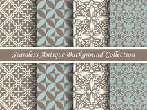 Antique seamless background collection brown and blue_66 Stock Image