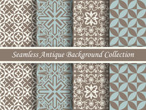 Antique seamless background collection brown and blue_64 Royalty Free Stock Photo