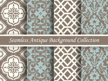 Antique seamless background collection brown and blue_72 Stock Photography