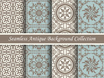 Antique seamless background collection brown and blue_73 Stock Photography