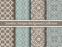 Antique seamless background collection brown and blue_79 Stock Image