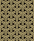 Antique seamless background image of 3D cube triangle geometry corss frame. Antique seamless retro abstract pattern image can be used for wallpaper, web page Royalty Free Stock Image