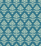 Antique seamless background image of vintage blue dot line curve garden flower Royalty Free Stock Image