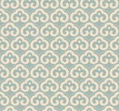 Antique seamless background oriental curve spiral cross frame ch Stock Photo