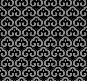 Antique seamless background oriental curve spiral cross frame ch Royalty Free Stock Photo