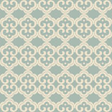 Antique seamless background oriental curve spiral cross round fr Royalty Free Stock Photo