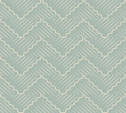 Antique seamless background oriental curve wave cross geometry l Royalty Free Stock Photography