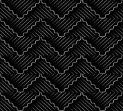 Antique seamless background oriental curve wave cross geometry l Stock Photos