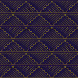 Antique seamless background oriental curve wave cross square che Royalty Free Stock Photos