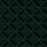 Antique seamless background oriental curve wave cross square che Royalty Free Stock Images