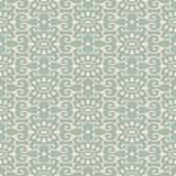 Antique seamless background oriental oval curve spiral cross kal Royalty Free Stock Photography