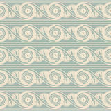 Antique seamless background 486 round spiral cross flower Royalty Free Stock Photography