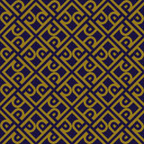 Antique seamless background 514 vintage cross frame spiral check geometry Royalty Free Stock Photography